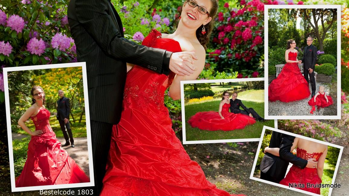Rode trouwjurktweedehands