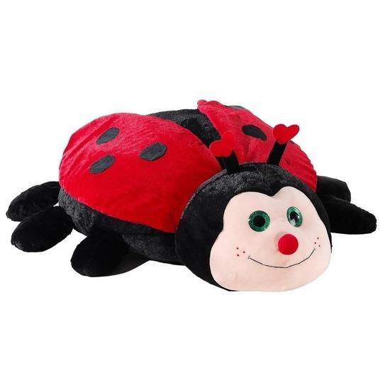 0b7af1f72ae849 Grote rood/zwarte lieveheersbeestje knuffel 100 cm kopen   Baby ...