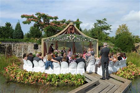 De groene watertuinen trouwen trouwlocatie in lelystad flevoland - Prieel buiten ...