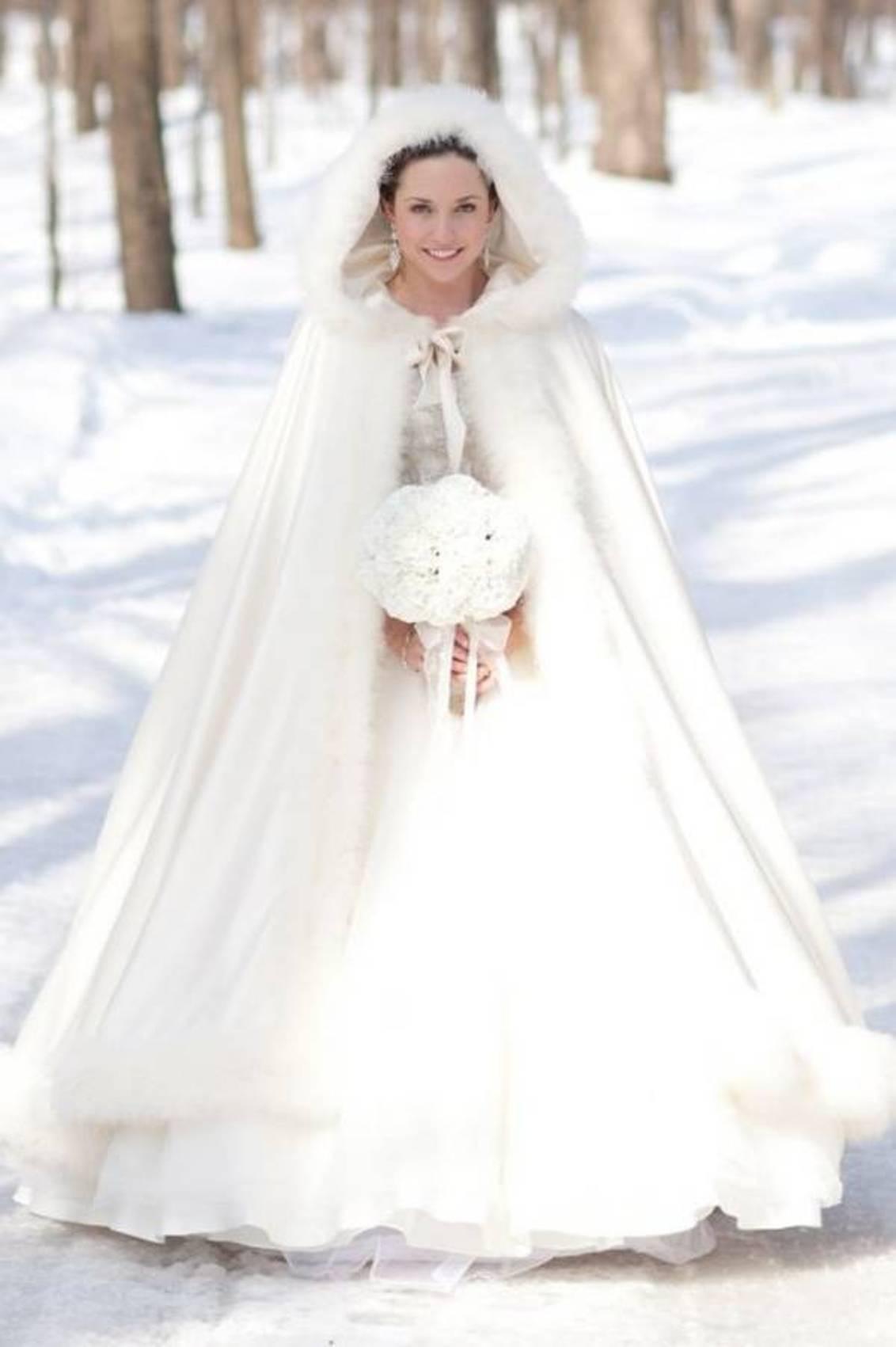 Jurk Voor Bruiloft Winter.De Winter Bruiloft